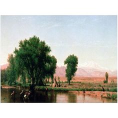 Trademark Fine Art Crossing the Ford, Colorado Canvas Art by Thomas Worthington, Size: 18 x 24, Multicolor