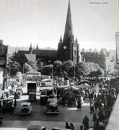 St Martins in the Bull Ring Birmingham about 1950.