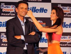 Rahul Dravid and Jacqueline Fernandez @ Gillette's New Recolutionary Shaving System Launch