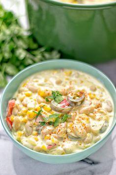 Vegetarian White Chili | #vegan #glutenfree #contentednesscooking