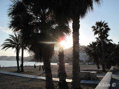 Puesta de sol desde la playa de San Cristóbal (Almuñécar)
