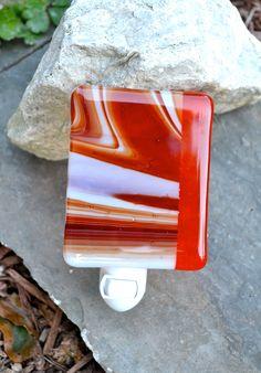 Warm Glass   Warm Glow Fused Glass Nightlight by dortdesigns on Etsy