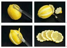 How to create a lemon flower garnish