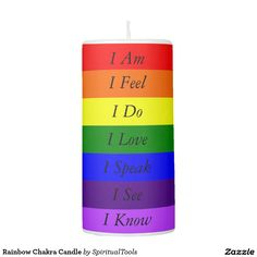 Rainbow Chakra Candle