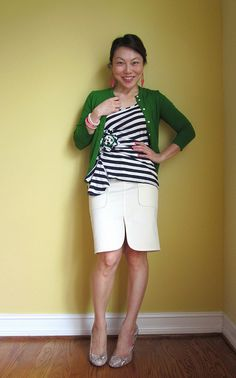 green & stripes, hints of pink
