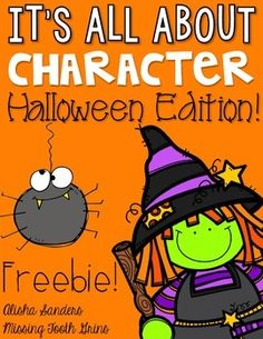 """It's All About Character!  This product is very similar sample to my character unit, <a href=""""http://www.teacherspayteachers.com/Product/Character-Unit-1445552"""">It's All About Character!</a> with a fun twist... It's a Halloween Edition!   What's included: -Halloween Character Cards -Halloween Character Trait Sort -Halloween Character Comprehension Pages  I hope you enjoy the free download!"""