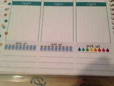 35 Drink up strip Erin Condren Life Planner by MissaMaeDesigns http://www.facebook.com/EnduranceProFitness