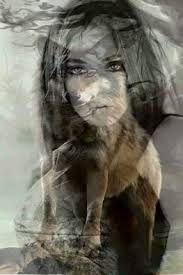 Image result for images merging wolf and female