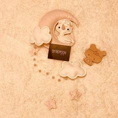Fox Luna Nubes y Estrellas Bebé Móvil Blush Pink Nursery | Etsy