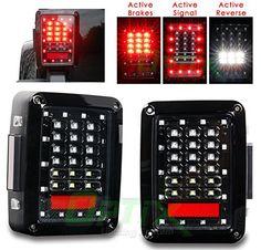 Optix LED Tail Light Brake and Turn Signal Lights for Jeep Wrangler JK JKU