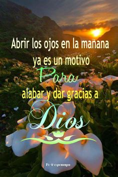 Abrir los ojos por la mañana ya es un motivo para dar gracias a Dios.