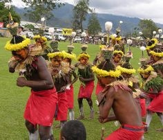 Tolai People in Traditional Tribal Dress