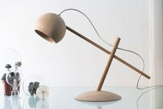 Krüger from Denmark will present the Lune lamp during the Milan Design Week. It's the perfect lamp for any kids room! Interior Lighting, Lighting Design, Desk Lamp, Table Lamp, Norway Design, Wooden Lamp, Room Lights, Danish Design, Elle Decor