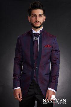 1 new message Mandarin Collar, Wedding Suits, Costumes, Tuxedo, Mens Suits, Men's Shoes, Burgundy, Suit Jacket, Menswear