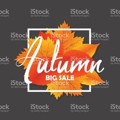 Autumn new season of sales and discounts, deals and offer. Discount Deals, Free Vector Art, Shopping Mall, Royalty, Seasons, Autumn, Image, Fall, Shopping Center