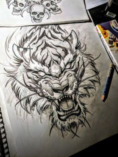 Tiger Tattoo - Madhusudan Kale Tiger Tattoo Source You are in the right place about Illustrations wa Irezumi Tattoos, Leg Tattoos, Body Art Tattoos, Sleeve Tattoos, Tattoos For Guys, Small Tattoos, Dragon Tattoos, Buddha Tattoos, Tiger Drawing