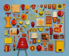 Vintage camping gear Portland photographer Jim Golden created these photos of neatly arranged collections of objects. Most of the objects he photographs Jim Golden, Collages, Collage Art, Lifestyle Fotografie, Collections D'objets, Things Organized Neatly, Collections Photography, Web Design, Game Design