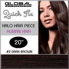 Flip in Hair Extensions 100% Remy Human Hair #2 Dark Brown
