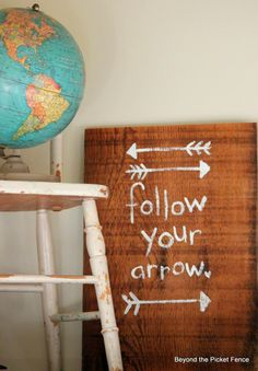Follow Your Arrow Sign http://bec4-beyondthepicketfence.blogspot.com/2014/04/follow-your-arrow.html