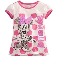 Sketch Minnie Mouse Tee for Girls