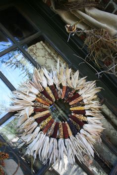 Crafted this indian corn wreath today, yay fall!!!