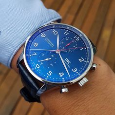 "840 отметок «Нравится», 30 комментариев — IWC GIRL (@iwcgirl) в Instagram: «One more blue passion  on my wish list : Portugieser Chronograph Rattrapante ""Special Edition…»"