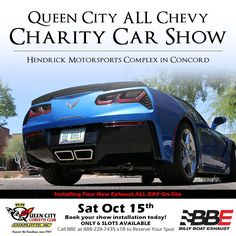 Pre-booking installs for Queen City All Chevy Charity Car Show in Charlotte Oct 15th. Get 50% OFF retail and FREE INSTALLATION!! Call BBE today to purchase one of just 6 spots available...Mike 1-888-228-7435 x18