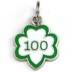 """This charm will always remind you of this momentous occasion! """"Girl Scouts 1912-2012"""" stamped on back."""