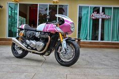 The Mistress... from Triumph Thruxton R owner's club.