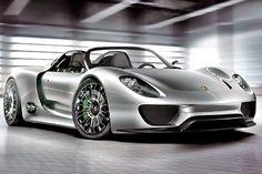 Porsche 918 Spyder Hybrid Concept Car.