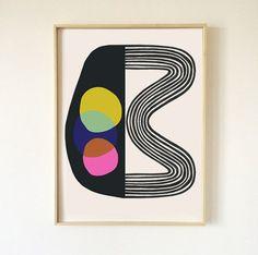 Amazing Inaluxe Fine Art Prints Mid Century Modern Art Small For Big Mid In Mid Century Modern Prints Modern Modern Prints, Modern Art, Fine Art Prints, Modern Decor, Eclectic Modern, Framed Prints, Abstract Geometric Art, Collage Design, Yellow Art