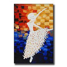 HANDMÅLAD Abstrakt / Människor / Blommig/Botanisk / fantasi olje~~POS=TRUNC,Moderna / Europeisk Stil En panel KanvasHang målad 5269904 2017 – Kr.419