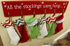 DIY Stockings from thrift store sweaters. - I just want the board that they come on!