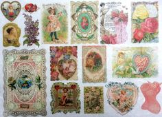 Rice Paper for Decoupage Decopatch Scrapbooking Sheet Craft Vintage Floral Label