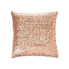 Rose Gold Sequin Pillow | Icing ($35) ❤ liked on Polyvore featuring home, home decor, throw pillows, rose throw pillow, rose home decor and gold sequin throw pillow
