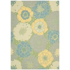 Nourison Home and Garden RS021 Green Area Rug   http://www.arearugstyles.com/nourison-home-and-garden-rs021-green-area-rug.html