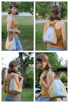 "Made by Arina Rasputina: Сумка-рюкзак ""Ящерка"""