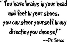 Amazon.com: Dr seuss you have brains in your head and feet in your shoes you can steer yourself in any direction you choose wall art wall sayings