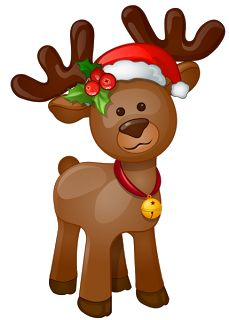 Cute Reindeer Clip Art Clipart Free Holiday Christmas Rh Com