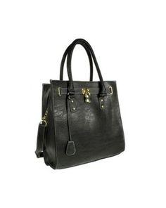Black Shoulder Bags With Padlock Trim, Debenhams