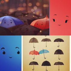 The blue umbrella :)    I'm gonna go buy myself a red umbrella and draw a face on it :).