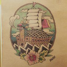 By Badass Tattoo korea Badass Tattoos, Cool Tattoos, Turtle Ship, Korean Tattoos, Rose Of Sharon, Different Tattoos, Beautiful Tattoos, Beautiful Body, Tatting