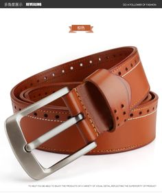 Aliexpress.com   Buy Marcos Mens Leather Head Layer Cowhide Pin Buckle Belt  Designer Casual Personality Retro Elastic Mc Belts for Men from Reliable  belt ... 676330765c