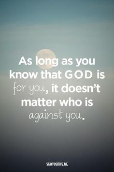 God is always for us!