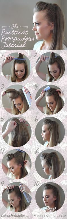 The Easiest Pretty Pompadour Tutorial You'll Ever See