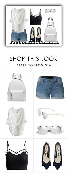 """""""Spring School Days"""" by my-style-xo ❤ liked on Polyvore featuring LE3NO, Chicwish, Yves Saint Laurent, Charlotte Russe, contest and contestentry"""