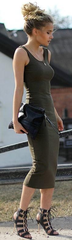 Army Green / Fashion by Linda Ryden