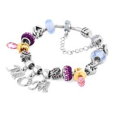 Charms Beads - multicolor murano glass silver plated family mother daughter butterfly set fit beads charms bracelets all brands Image. Pugster