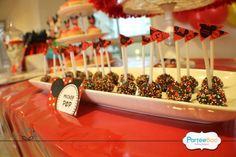 Items similar to Customized Party Lollipop / Cake Pop Mini Flags (Mickey Mouse Theme) x 24 pcs on Etsy Fiesta Mickey Mouse, Mickey Mouse Birthday, Mickey Minnie Mouse, 3rd Birthday, Birthday Ideas, Mini Mouse Baby Shower, Lollipop Cake, Mini Flags, Party Treats