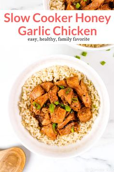 This easy crockpot Honey Garlic Chicken has the most amazing sticky and sweet sauce for Asian takeout at home. This healthy recipe from Slender Kitchen is MyWW SmartPoints compliant and gluten free. Healthy Crockpot Recipes, Ww Recipes, Low Calorie Recipes, Slow Cooker Recipes, Chicken Recipes, Cooking Recipes, Recipies, Dinner Recipes, Slow Cooker Lentils
